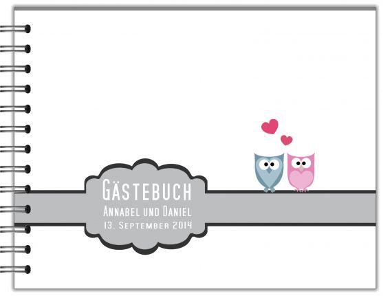 GÄSTEBUCH ZUR HOCHZEIT | RINGBUCH EULEN BESTSELLE SEIT 2012