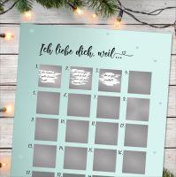 """Adventskalender zum Rubbeln """"ICH LIEBE DICH"""" A3 Weihnachtskalender"""