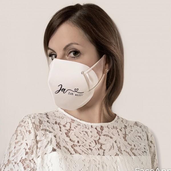 Cover-Up Masken für FFP2 zur Hochzeit Set: Braut und Bräutigam