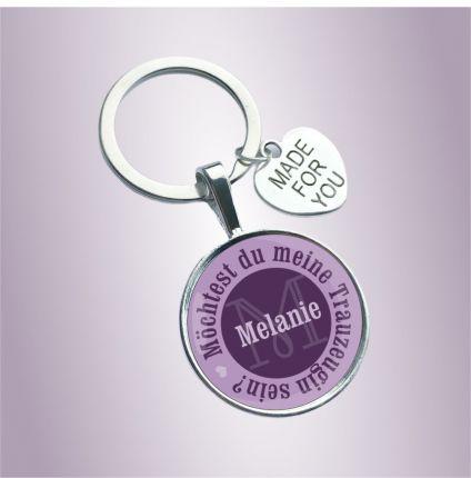 Schlüsselanhänger für die Trauzeugin und Freundin - Möchtest du meine Trauzeugin sein?