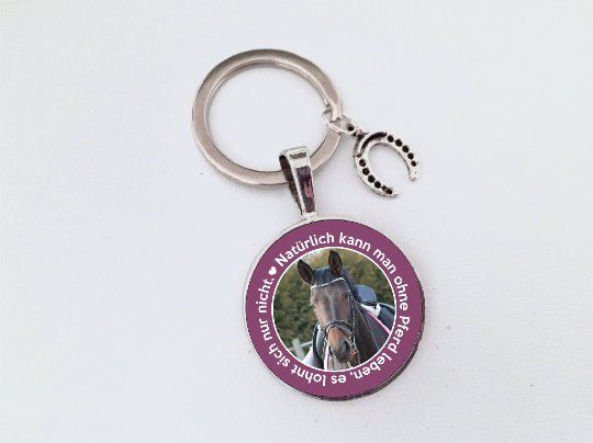 Anhänger Pferd personalisiert, Schlüsselanhänger, Geschenk für Pferdenarren, bester Freund, treuer F
