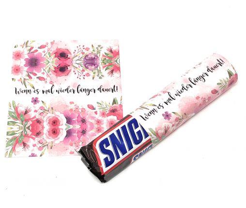Banderolen zur Hochzeit, Wenn es mal wieder länger dauert, Watercolor Pink