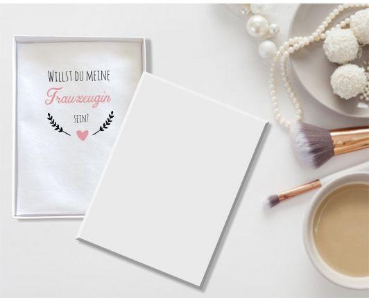 """Hochzeit Taschentuch für Freudentränen """"Trauzeugin"""" Stofftaschentuch"""