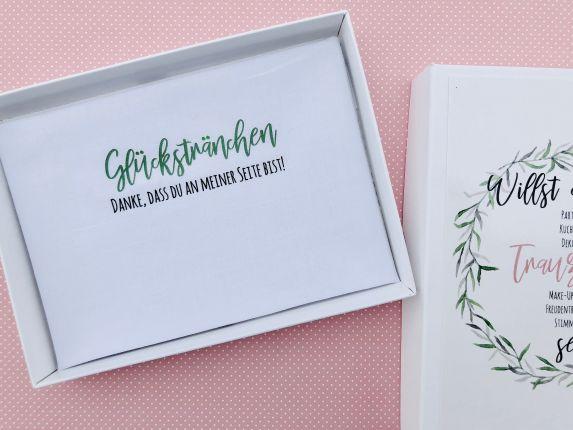 """Hochzeit Taschentuch für Freudentränen """"Glückstränchen"""" Stofftaschentuch"""