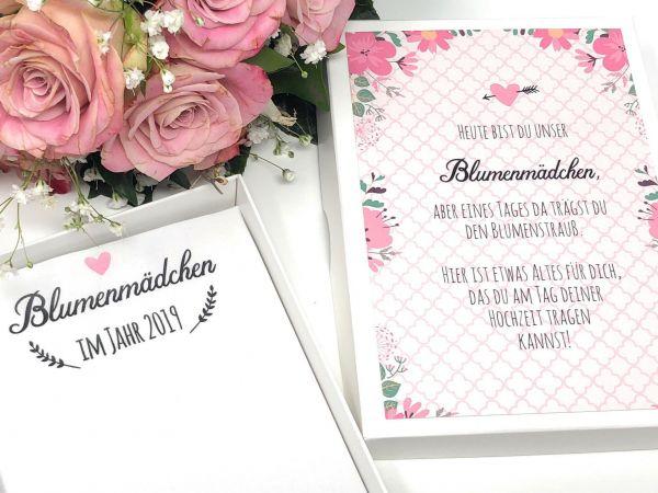 """Hochzeit Taschentuch für Freudentränen """"Blumenmädchen"""" Stofftaschentuch"""