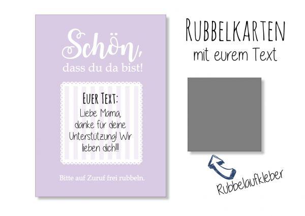 Gastgeschenk Hochzeit - Rubbelkarten Flieder