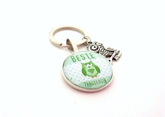 Geschenk Trauzeugin, Schlüsselanhänger, Geschenk Freundin der Braut, Eule, süß, Geschenk zur Hochzei