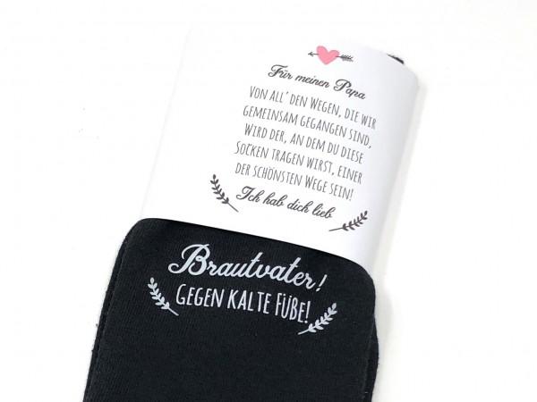 """Hochzeit Geschenk Socken """"Gegen kalte Füße"""" für den Brautvater"""