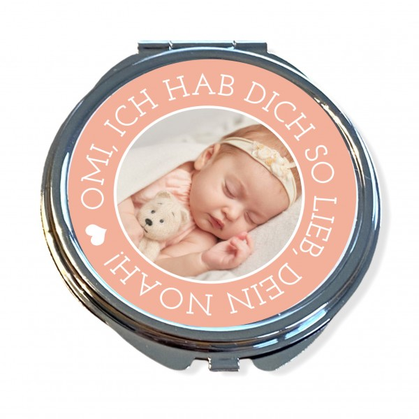 Taschenspiegel personalisiert mit Foto | Geschenk zur für Omis, Tanten, Freundin