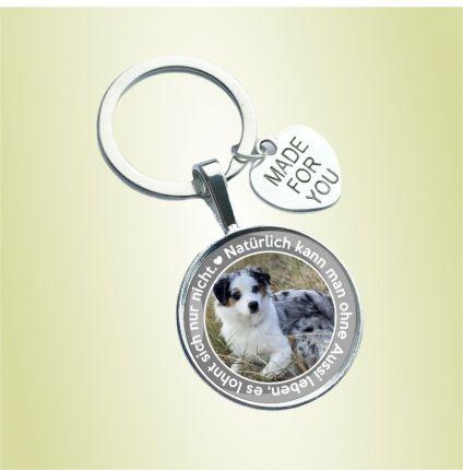 Schlüsselanhänger Hund - mit Foto