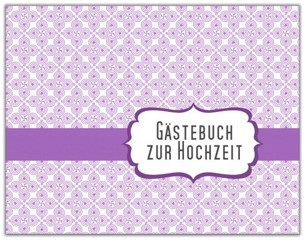 GÄSTEBUCH ZUR HOCHZEIT | LILA MUSTER