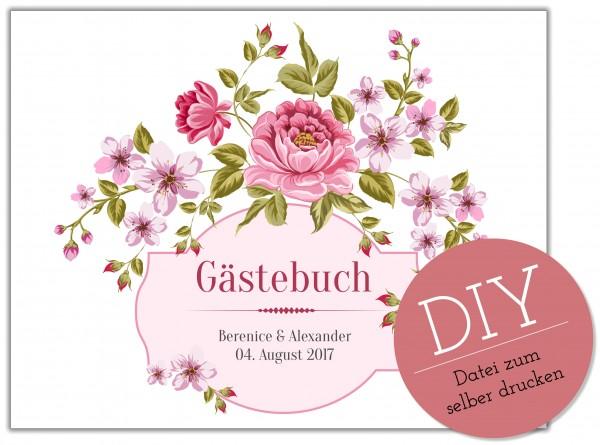 DIY GÄSTEBUCHSEITEN ZUM SELBER DRUCKEN | WILDE ROSE (PDF)