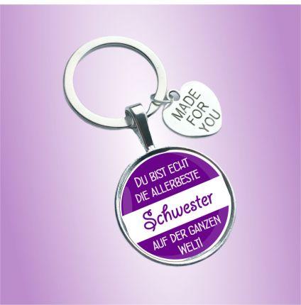 Schlüsselanhänger für die Schwester