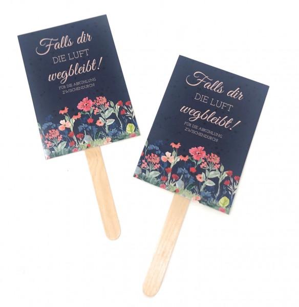 Fächer Hochzeit | Blue Watercolor Flowers
