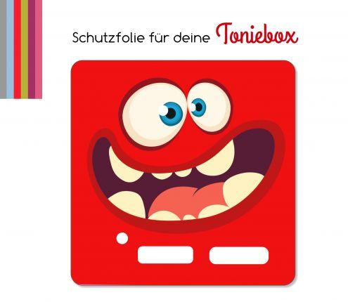 Schutzfolie passend für Toniebox, Funny Face rot