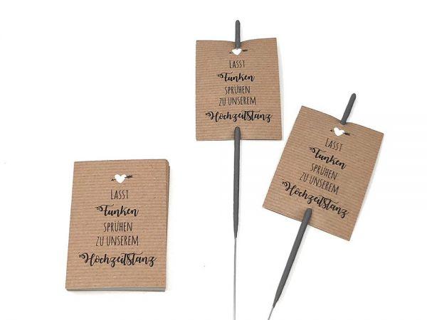 Karten für Wunderkerzen - Hochzeitstanz
