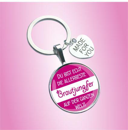 Schlüsselanhänger für die Brautjungfer