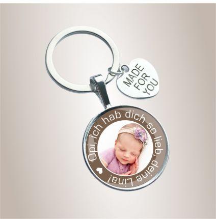 Schlüsselanhänger für den Opa - personalisiert mit Foto