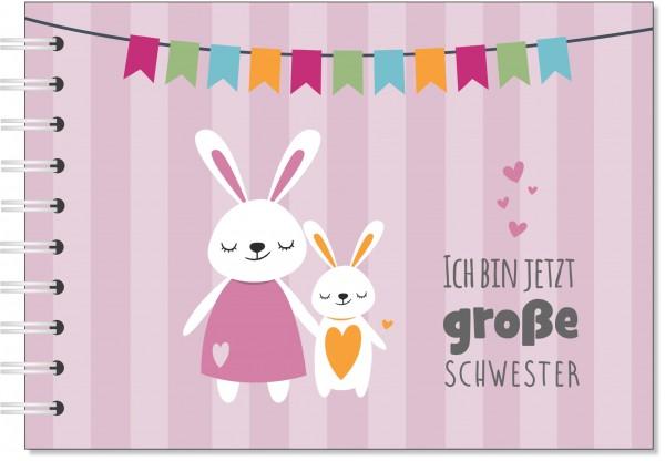 """Erinnerungsbuch """"Große Schwester"""" - Geschenk zur Geburt für Geschwister"""