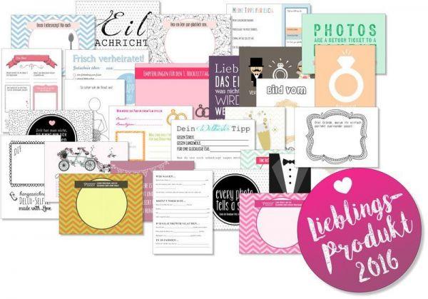 52 Karten Hochzeitsspiel | Postkartenspiel | 27 unterschiedliche Designs
