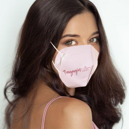 Cover-Up Masken für FFP2 zur Hochzeit Trauzeugin