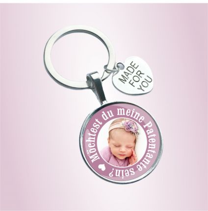 Schlüsselanhänger für die Patentante - personalisiert mit Foto