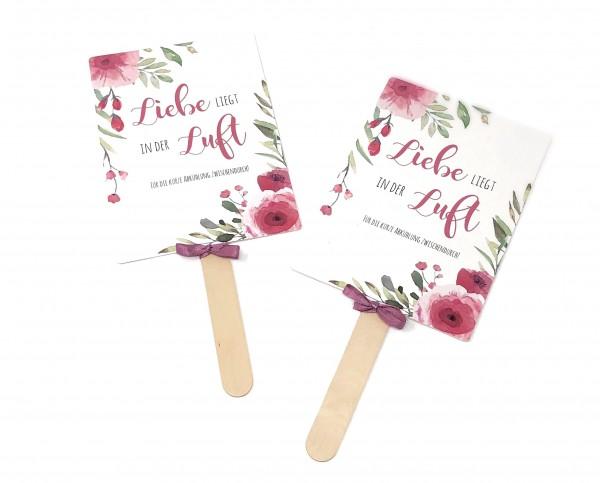 Fächer Hochzeit | Watercolor Rose
