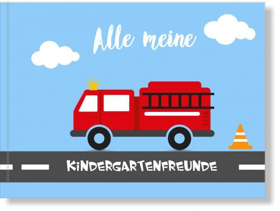 Freundebuch Kindergarten Feuerwehr, Erinnerungsbuch Kindergarten