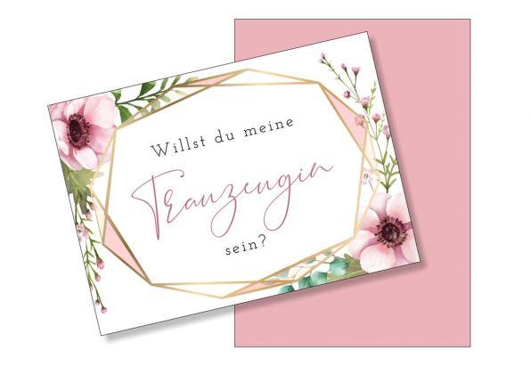 Postkarte Willst du meine Trauzeugin sein? Passend zu unserem Trauzeuginnen Planer