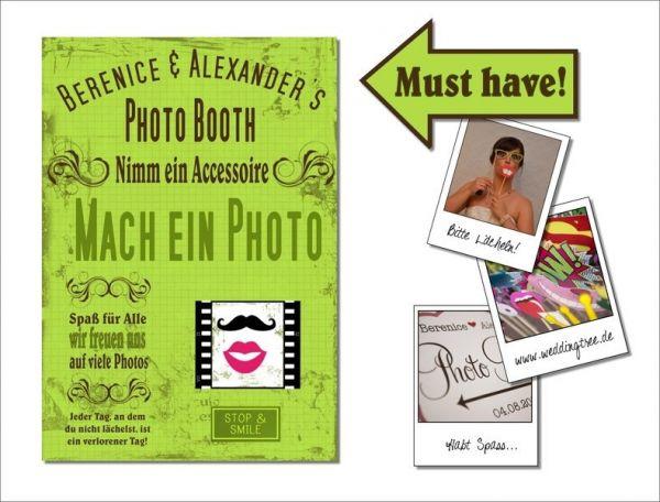 Hochzeit Photo Booth - Schild (PDF)