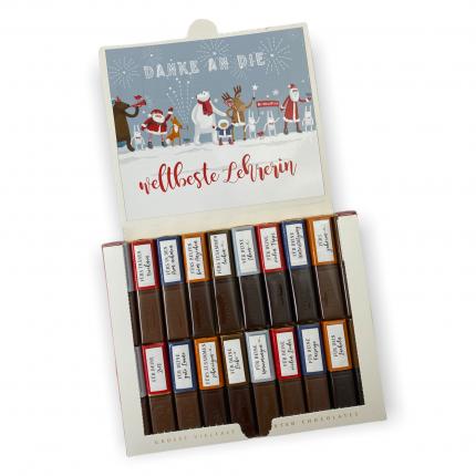 Aufkleber Set für Merci Schokolade | Weihnachtsgeschenk für die Lehrerin