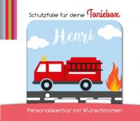 Schutzfolie passend für Toniebox, Feuerwehrauto