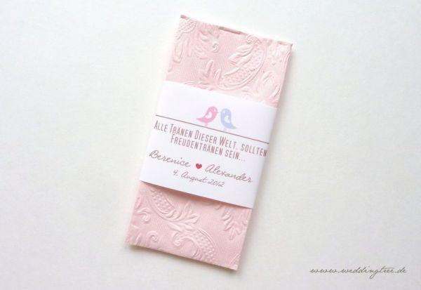 Taschentuch-Banderolen zum selber ausdrucken, Freudentränen (PDF)