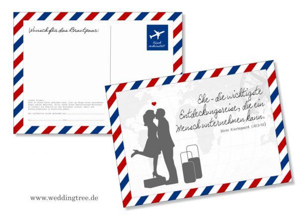 50 Ballonflugkarten zur Hochzeit Airmail