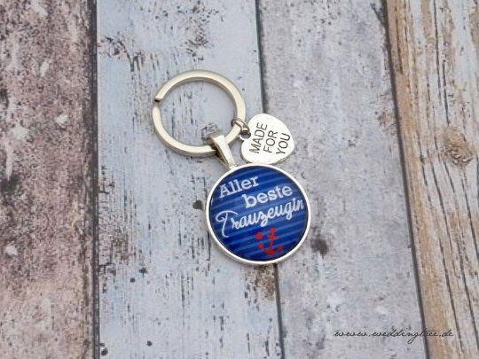 Schlüsselanhänger für die Trauzeugin - Anker