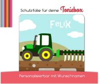 Schutzfolie passend für Toniebox, Traktor, Trecker, grün