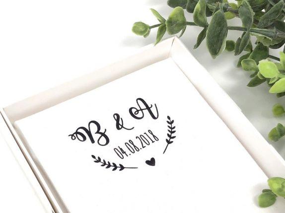 """Hochzeit Taschentuch für Freudentränen """"Hochzeitslogo"""" Stofftaschentuch"""