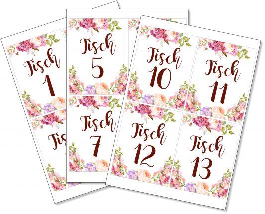Tischnummern zum ausdrucken (PDF)