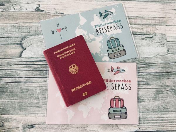 Reisepass Hüllen für die Flitterwochen, Geschenk zur Hochzeit, Geldgeschenk zur Hochzeit, Verpackung