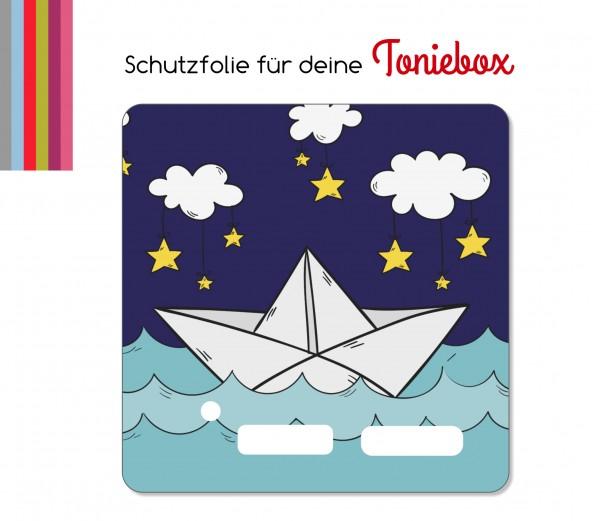 Schutzfolie passend für Toniebox, Papierschiffchen