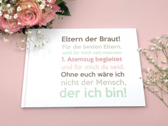 Hochzeitsgeschenk Buch Eltern der Braut - Erinnerungsalbum