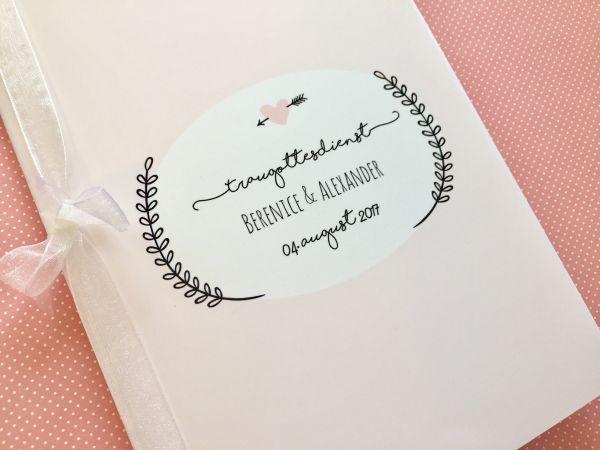 Hochzeit Digitales Kirchenheft - zum selber drucken