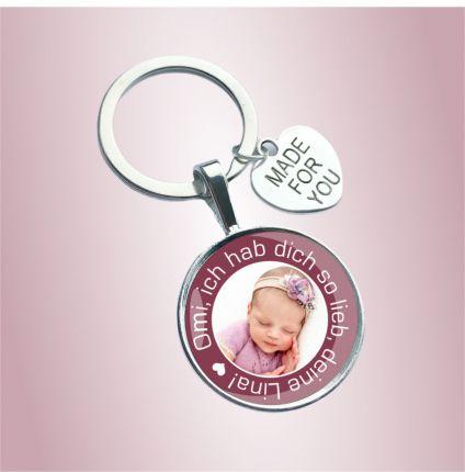 Schlüsselanhänger für die Oma - personalisiert mit Foto
