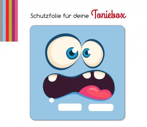 Schutzfolie passend für Toniebox, Funny Face blau