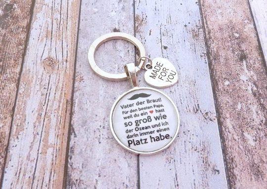 Geschenk Papa, individueller Schlüsselanhänger, Schlüsselanhänger Geschenk zur Hochzeit, Brautvater,