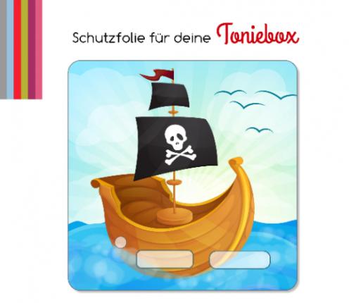 Schutzfolie passend für Toniebox, Piratenschiff