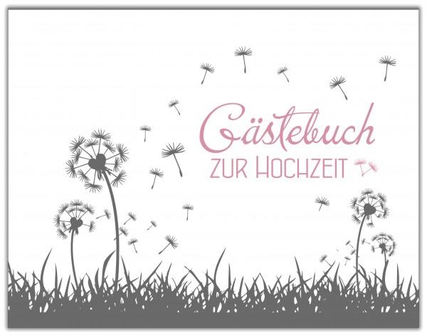 GÄSTEBUCH ZUR HOCHZEIT | PUSTEBLUME ROSA