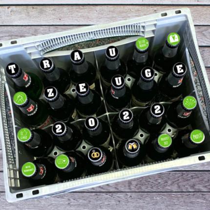 Personalisierter Bierkasten für den Trauzeugen