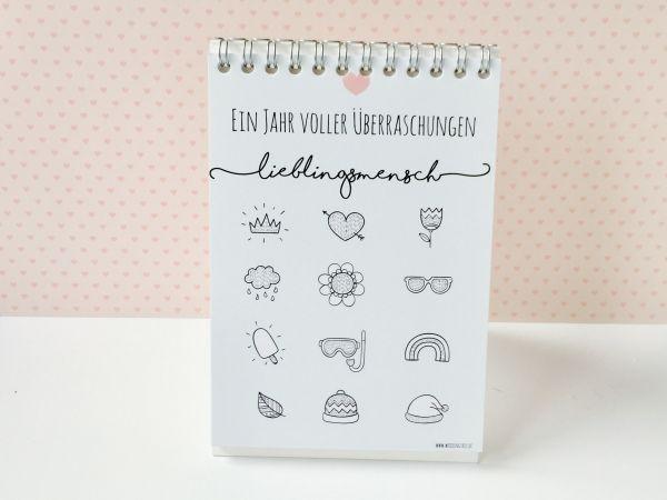 Rubbellos Gutschein Kalender - Lieblingsmensch