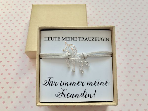 Geschenk Trauzeugin - Armband Einhorn